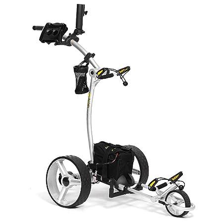 Bat-Caddy X4R Sport Remote Control Cart w Free Accessory Kit, 35Ah, Silver