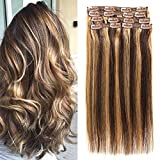 Best Amazon Leave Ins - Clip in Human Hair Extensions Remy Hair Straight Review