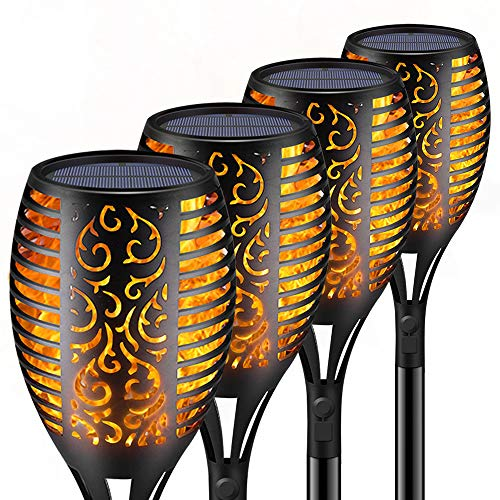 Solar Torch Lights,Waterproof Flickering Flame Torch Lights Outdoor