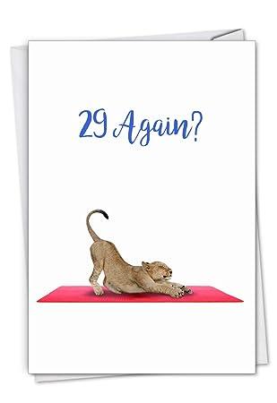 Amazon.com: Wildlife Yoga, Lioness: Tarjeta de cumpleaños ...