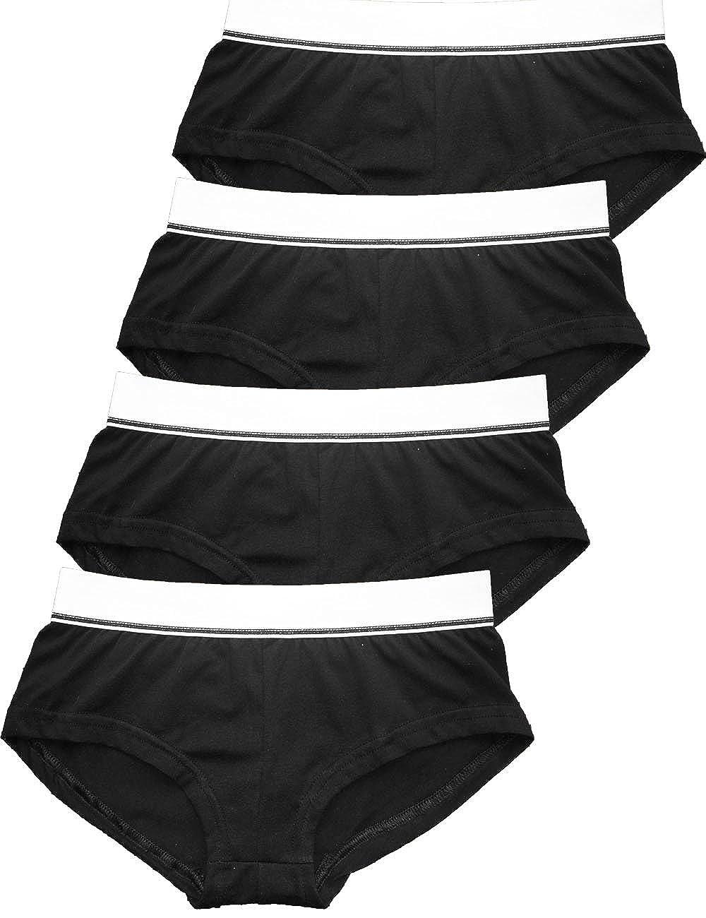 LisaModa Mädchen Panty 4er Pack Stretch Baumwolle