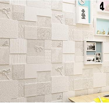 10 Piezas WH-QT Etiqueta de la Pared 3D Espuma Autoadhesivo Fondo de Pantalla anticolisi/ón Impermeable Arte de la Pared de ladrillo Simple de Arte Azulejos de la Pared Color : B