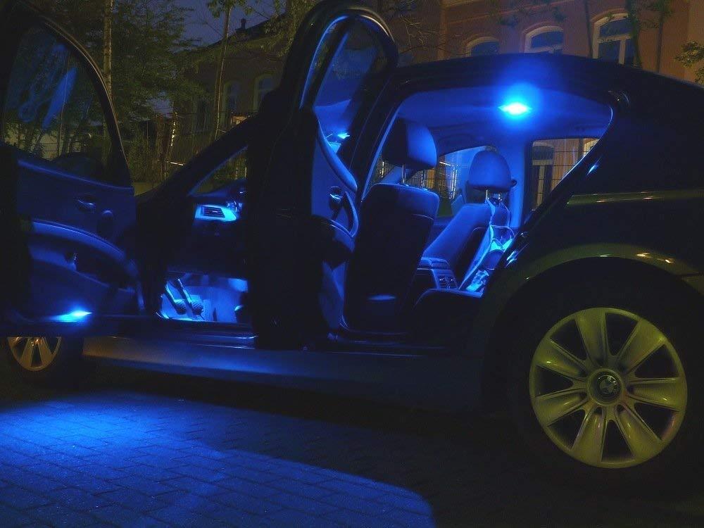 8x LED blu illuminazione abitacolo Set Nissan Qashqai lampada da lettura lampada lampadina