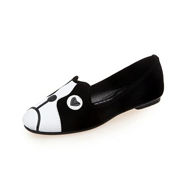 Amazon.com | Feilongzaitianba Flats Shoes Woman Fashion Flower Cartoon Sapato Feminino Loafers Casual Flat Shoes Slip On Shoes for Women C95 | Shoes
