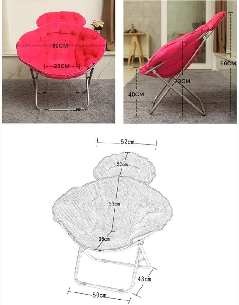 BH Deckchairs lounge chair deck chair folding chair bed chair moon portable lunch break chair 4 colors (color: A) D