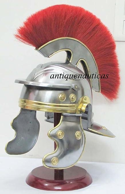 Shiv Shakti armadura Medieval casco de centurión romano empresas con pluma roja Traje adulto timonel