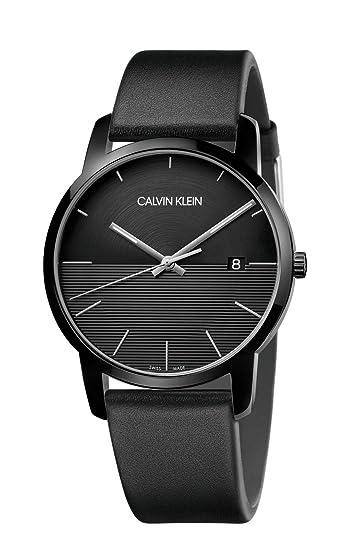 Calvin Klein Reloj Analógico para Hombre de Cuarzo con Correa en Cuero K2G2G4C1: Amazon.es: Relojes