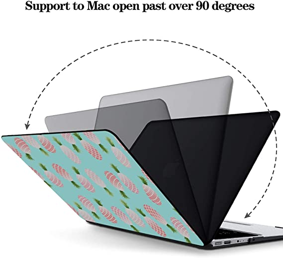 MacBook Hard Case Summer Sweet Fresh Fruit Pineapple Plastic Hard Shell Compatible Mac Air 11 Pro 13 15 MacBook Pro 2016 Case Protection for MacBook 2016-2019 Version
