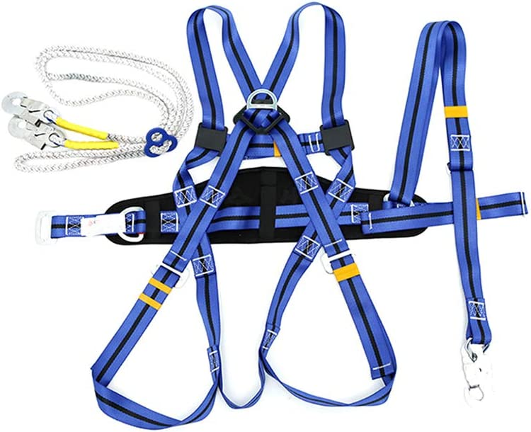 5Point Fall Arrest Safety Harness Scaffold Construction Work Harness Full Body