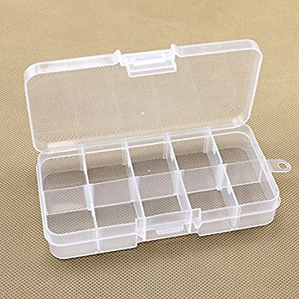 Amazoncom Famixyal 10 Grids Mini Storage Assortment Box Adjustable