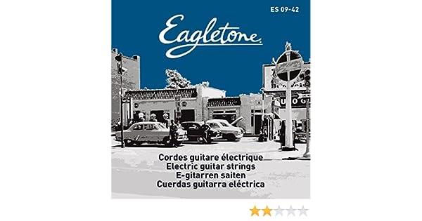 Eagletone EPS 09-42 Cuerdas para guitarra eléctrica Ultra Ligera 09-42: Amazon.es: Instrumentos musicales