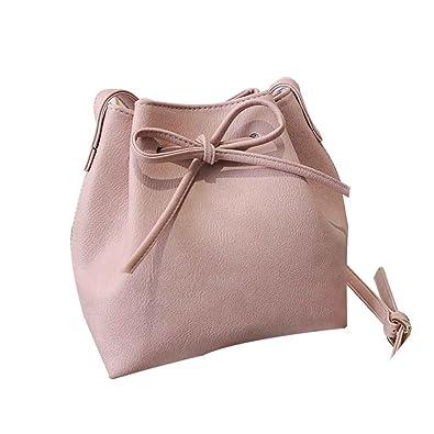 36f013b81f0e Topker Women Spring Summer Bow Drawstring Shoulder Bag Girl Bucket ...