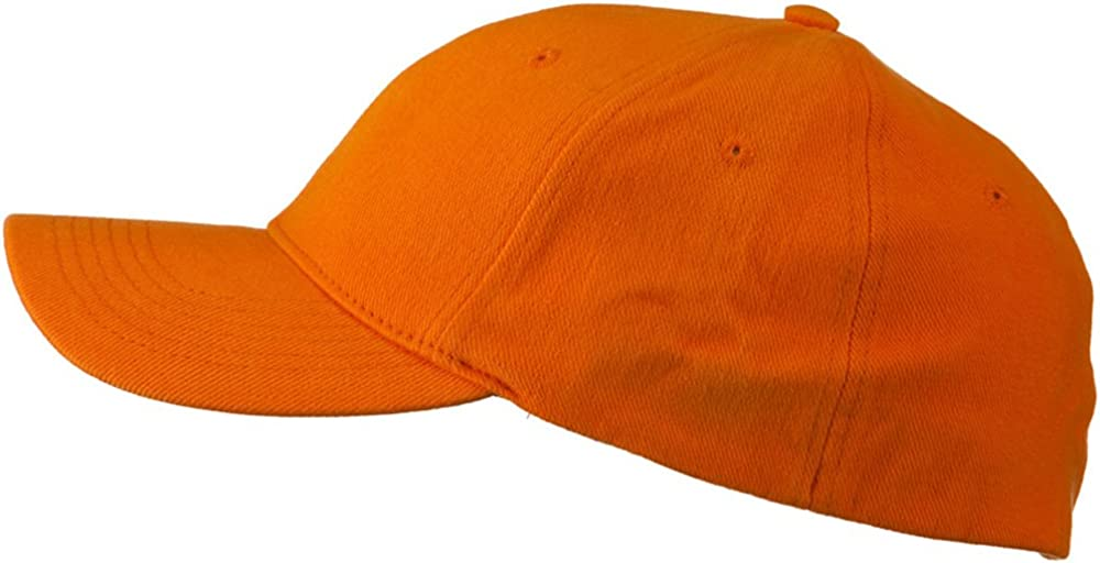 Stretch Heavy Weight Brushed Cotton Fitted Cap Orange W37S51C