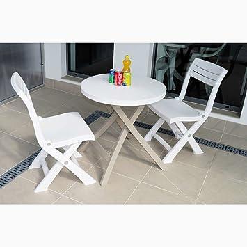 JUSTyou Bistro Essgruppe Gartenmöbel Gartengarnitur Set 2x Stuhl + ...