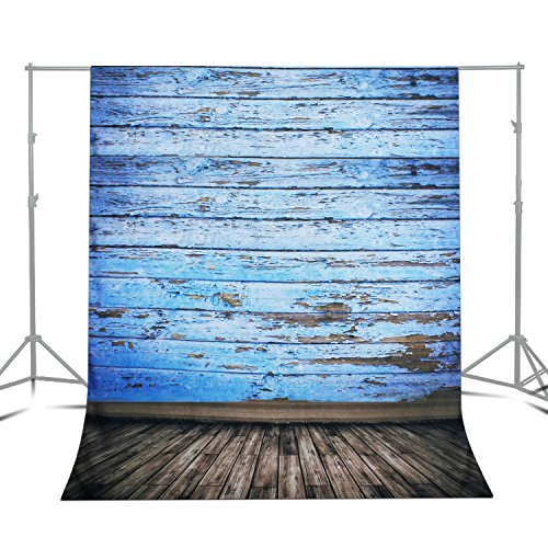 Julius Studio 5 x 10 ft. Photo Video Photography Studio Vintage Wood Floor Backdrop Background for Photography Studio Video Shooting, Backdrop Only!, JSAG357 by Julius Studio