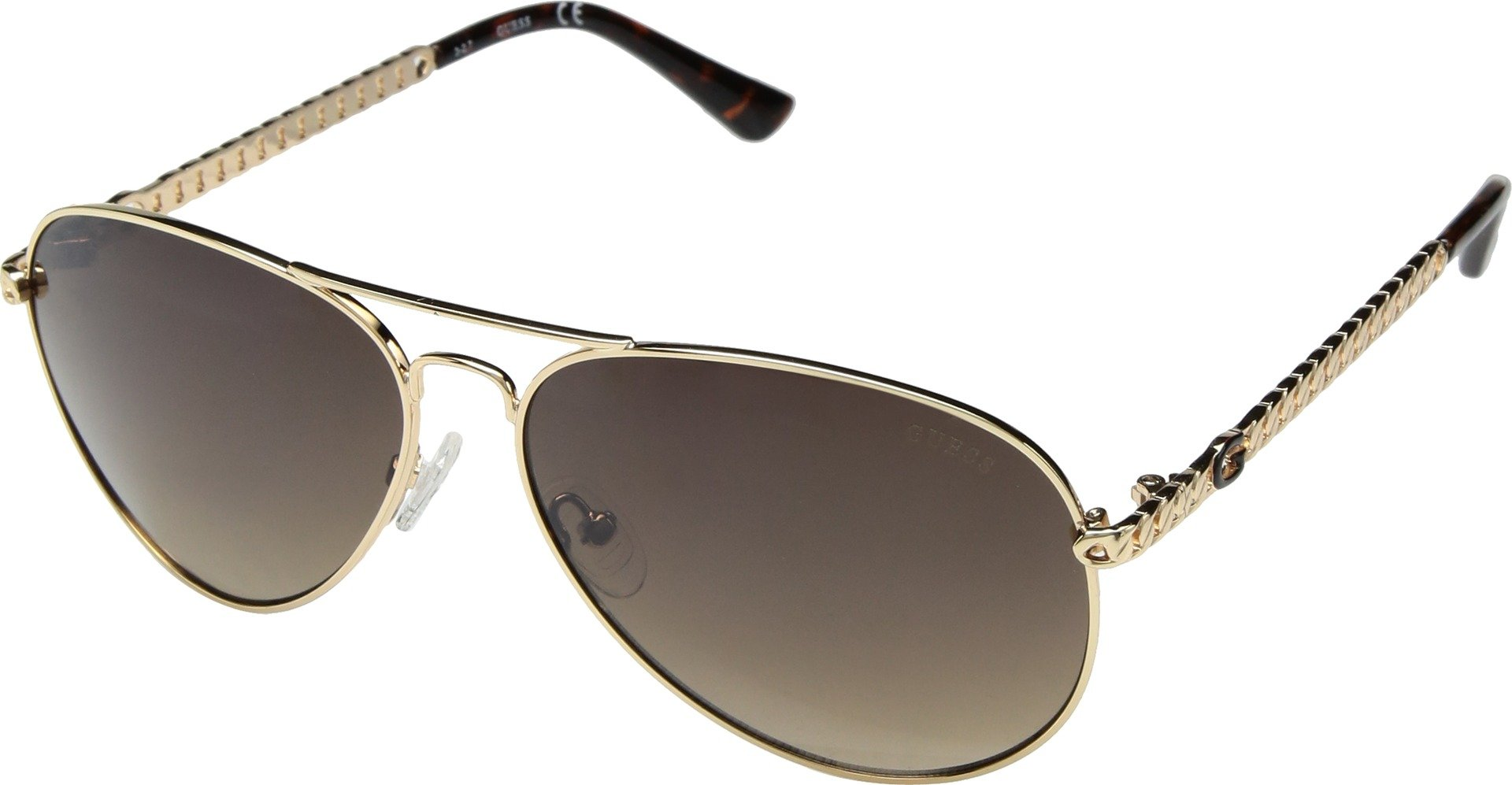 09d0675b10e GUESS Factory Women s Metal Chain-Link Aviator Sunglasses