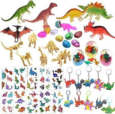 Mattelsen 60 Pcs Granel Juguetes de Dinosaurios Surtidos Aspecto Realista - para Niños Niñas Dinosaurios de Cumpleaños Piñata Rellenos y Bolsas Regalo ...