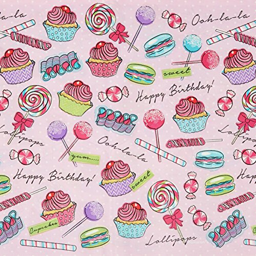 Heavenly Sweets Birthday Party Rectangular Table Cover Tableware, Plastic, 54
