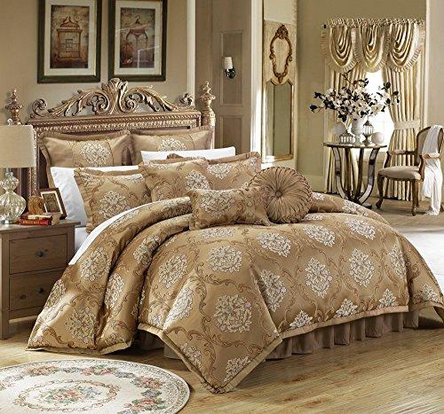 Gold Jacquard Comforter - 7