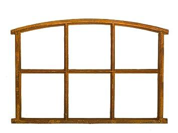 Eisenfenster wie antik Fenster mit Öffnungsklappe Stichbogen Stallfenster