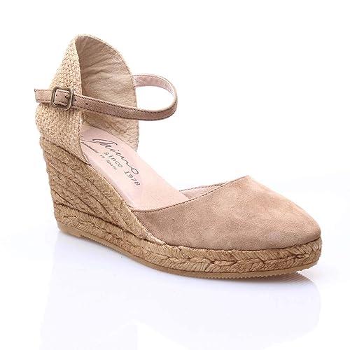 GAIMO Yute CUÑA Media Ante Mujer Camel 40: Amazon.es: Zapatos y complementos