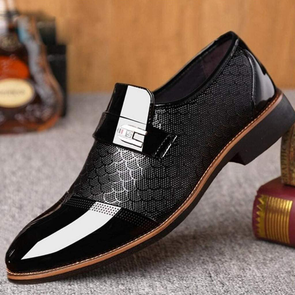 Fashion Men Business Leather Shoes Casual Pointed Toe Shoe Male Suit Shoes