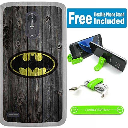 [해외][Ashley Cases] for LG [Stylo 4] [Stylo 4+] [Stylo 4 Plus] Cover Case Skin with Flexible Phone Stand - Batman Wood / [Ashley Cases] for LG [Stylo 4] [Stylo 4+] [Stylo 4 Plus] Cover Case Skin with Flexible Phone Stand - Batman Wood