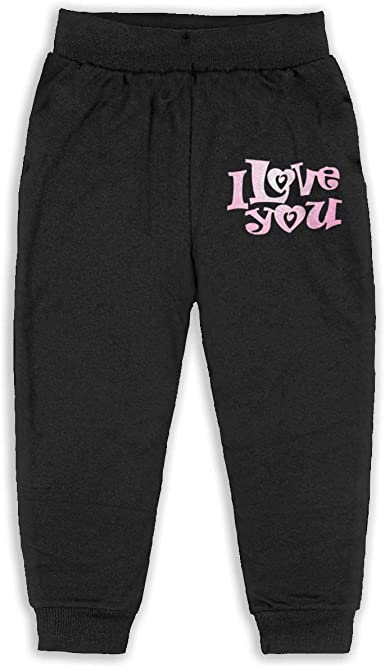 Love is All You Need Children Active Jogger Sweatpants Basic Elastic Sport Pants Gray