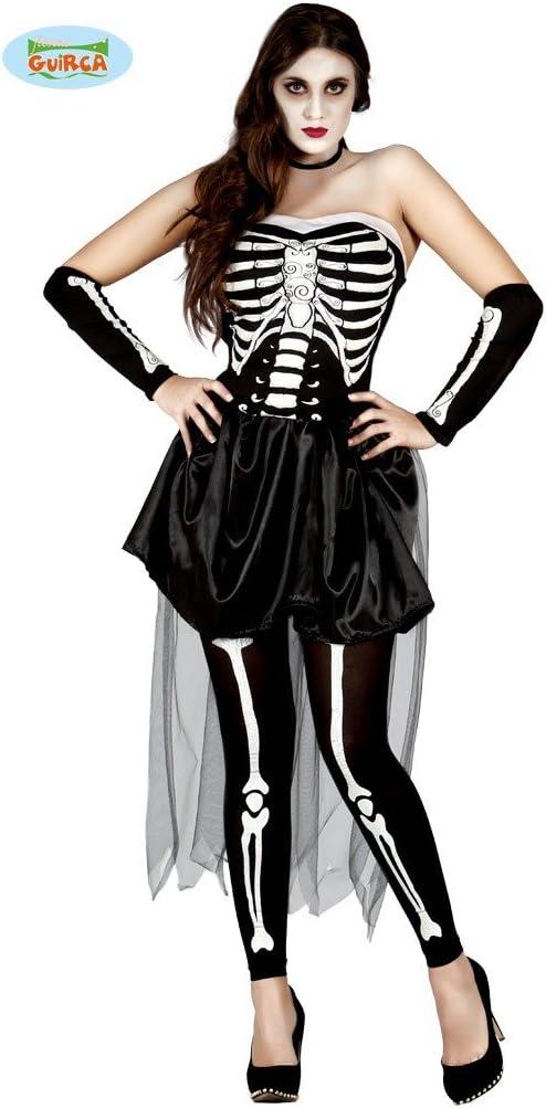 Sensueel skelet kostuum voor vrouw
