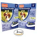 Dog Flea Treatment Collar - Flea Collar for Small Dogs Water Resistant 7 Months Protection Fits Necks Up to 20 Inches Pack of 2