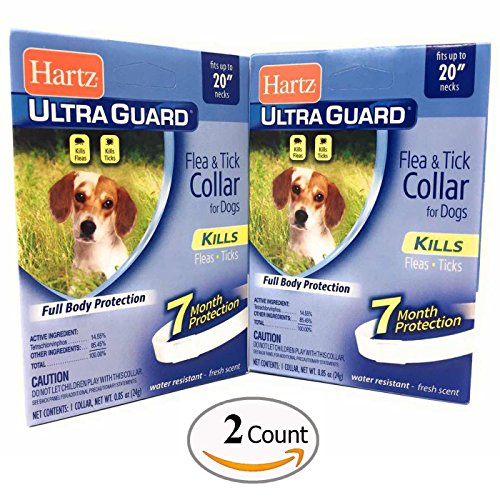 Flea Collar for Small Dogs Water Resistant 7 Months Protection Fits Necks Up to 20 Inches Pack of 2