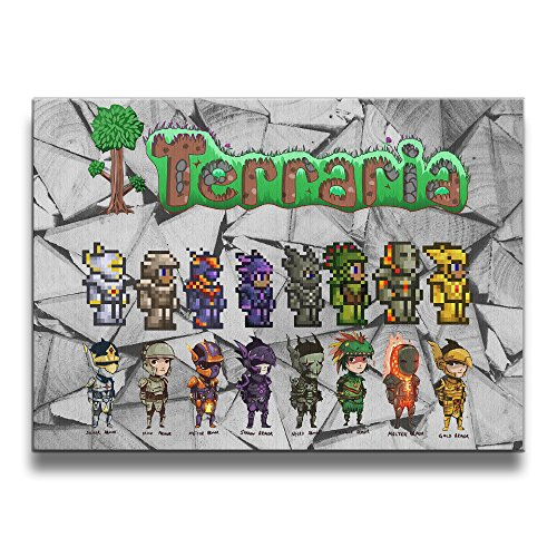 ReBorn Pixel Terrarias Frameless Wall Art Painting For Home Office Decor