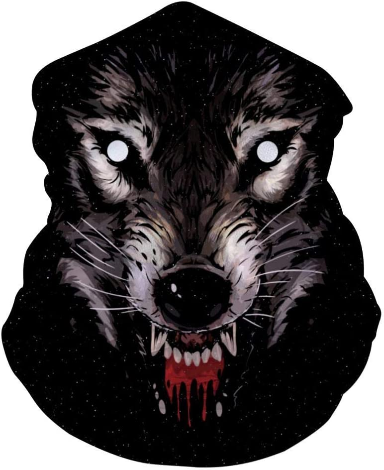 Mamihong Feroz Wolf Face Bandanas Personalizadas de mascarilla para Polvo, Sports Casual Headwear Seamless Neck Gaiter, Headwrap White
