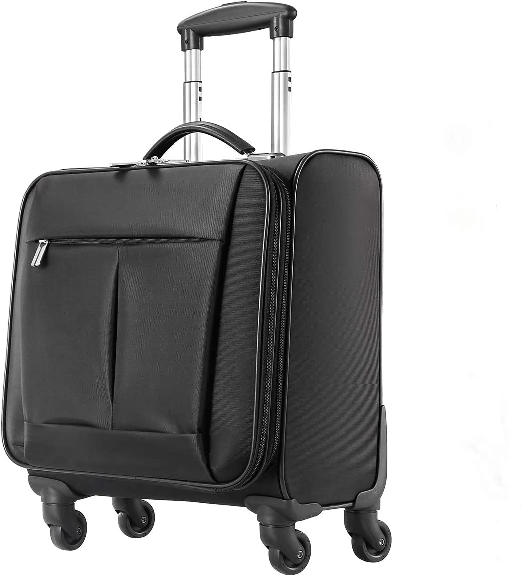 Softside Expandable Suitcase Luggage with Spinner Wheels,18inch Carry-on Lightweight Durable Suitcase
