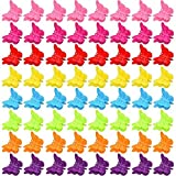 100 Packs Assorted Color Butterfly Hair Clips, Bantoye Girls Beautiful Mini Butterfly Hair Clips Hair Accessories for Women and Girls, Random Color