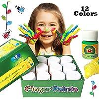 pintura de dedo para niños,12 colores lavable Pinturas