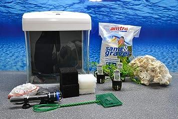 Nano Aquarium Set Xcube Komplettset Weiss Cube 26 Liter Becken Inkl
