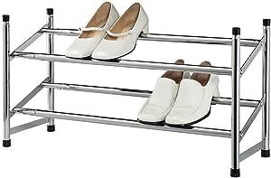bed bath n more Expandable Chrome-Colored 2-Tier Shoe Rack