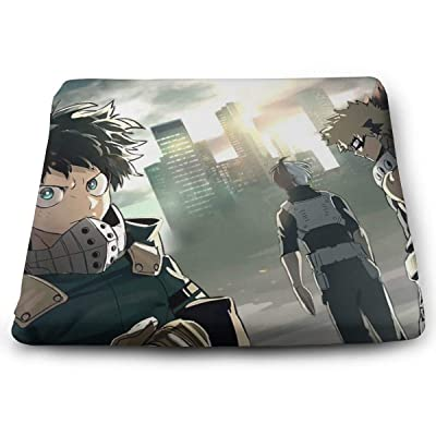 My Hero Academia Square Cushion Thick Large Soft Mat Floor Pillow Seating for Home Decor Garden Party for Chair Pads 15x13.7x1.2Inch: Office Products