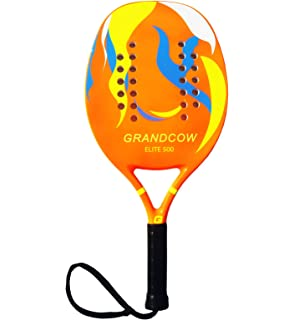 GRANDCOW Beach Tennis Paddle Racket Carbon Fiber EVA Memory Foam Core Tennis Padel