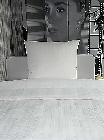 Angebot Hotelbettwäsche Bettwäsche Damast Streifen 23mm Weiß