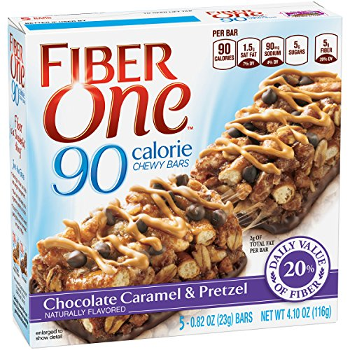Fiber One 90 Calorie Bars, Chocolate Caramel & Pretzel, 4.10 oz. from Fiber One