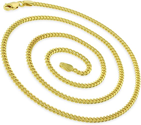 """2mm//16/""""-30/"""" 925 STERLING SILVER Miami Cuban Link Chain for Everyone"""