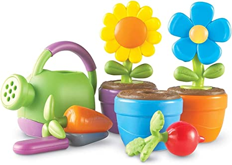 Learning Resources New Sprouts Grow It! Toddler Gardening Set, Outdoor Toys, Pretend Play, Easter Toys, 9 Pieces, Easter Gifts for Kids, Ages 2+