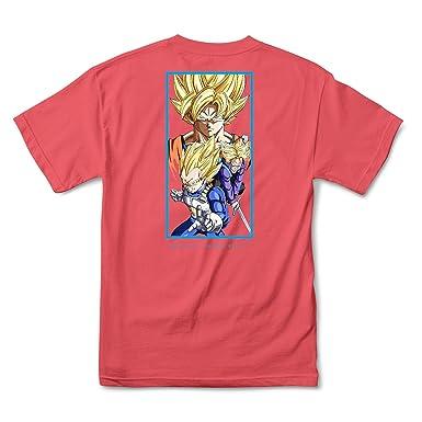 09b07e5ee5c Primitive x Dragon Ball Z DBZ Dirty P (Coral Wash) T-Shirt | Amazon.com