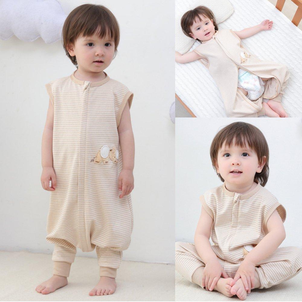 Baby Schlafsack Verano ni/ña ni/ño Primavera schlafanzug Baumwolle finas neugeboren elefante blanco de 0.5/tog 6-18 monate blanco Elefant A Talla:80CM