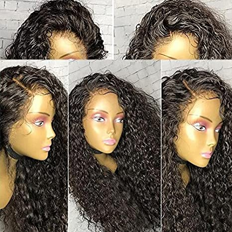 Amazon.com: Brazilian Virgin Hair Full Lace Human Hair Wigs For Black Women 130% Density Deep Curly Wig Natural Hair Line With Baby Hair (18 inch,Full Lace ...