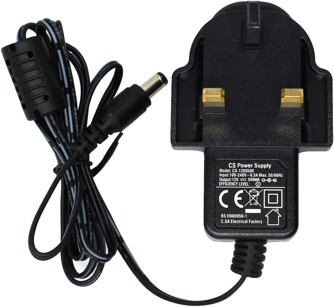 Super Power Supply AC DC Adapter Charger Cord 12V 500mA Regulated CCTV Security Camera 100V-240V 2.1mm x 5.5mm Plug