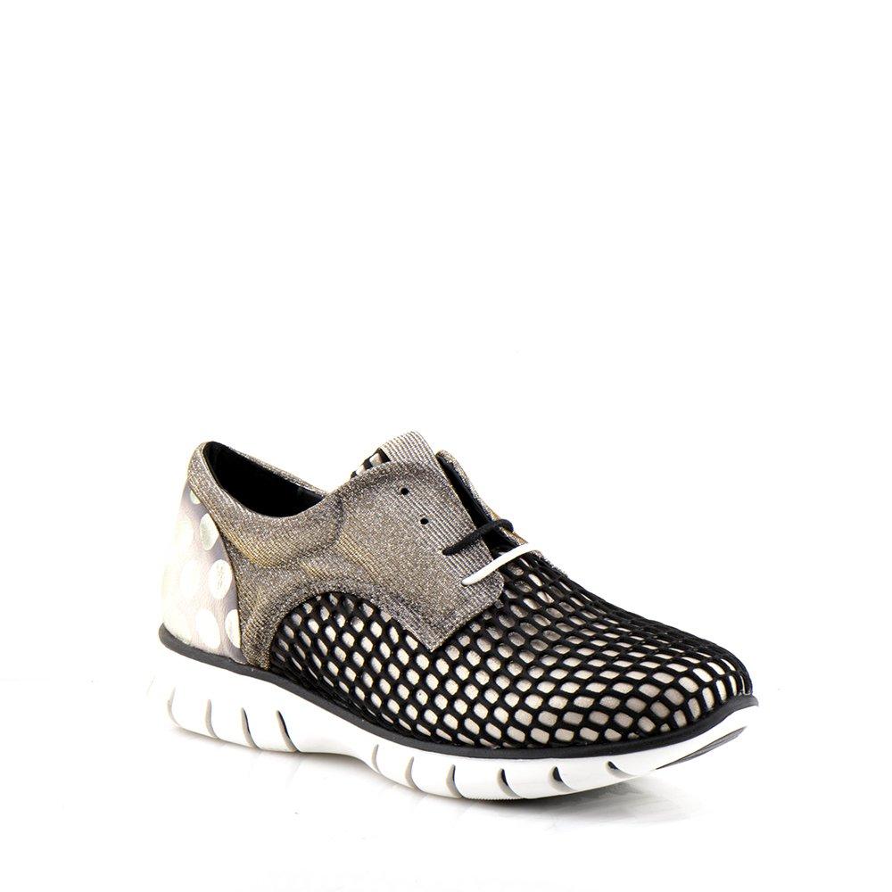 Felmini - Damen Schuhe - Verlieben Runner 9479 - Felmini Turnschuhe - Echte Textilgewebe - Schwarz  Schwarz e54da2