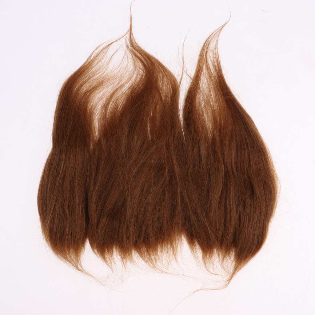 2mm Dark Brown Mini Mohair Curls for Tiny Wigs